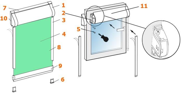 Установка изделия со сверлением.  1. Распаковать жалюзи, аккуратно разрезав упаковочный рукав.